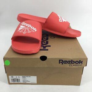 Reebok Unisex Classic Slides Sandals Bright Rose Pink White DV4009 15 EU 50 New