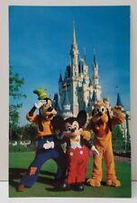 Walt Disney Mickey Mouse Pluto Goofey Postcard B10