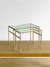 1970 ROGER THIBIER 2 TABLE GIGOGNE ART-DECO MODERNISTE BAUHAUS SHABBY-CHIC