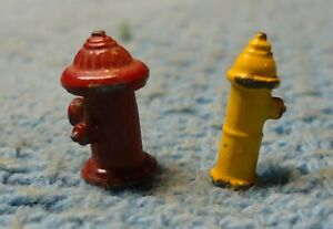 Ho Scale Fire Hydrant Set Of 2 Yellow And Red