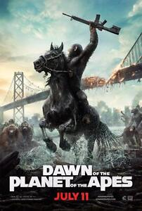 DAWN OF THE PLANET OF THE APES MOVIE POSTER FILM A4 A3 ART PRINT CINEMA
