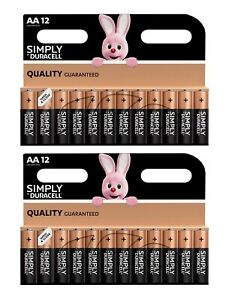 Duracell Simply Power AA Alkaline 1.5V LR6 MN1500 Battery x 24 pack