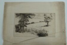 NORMAN McKELLEN etching , rural scene , 8/52