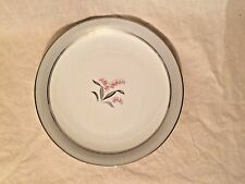 Noritake China Dinner Plate  - Lily of the Valley - #5556 - Silver Pink