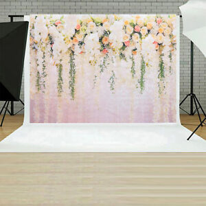 3D Rose Floral Photo Backdrops Bridal Shower  Wedding Flowers Wall Decor