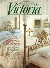 Victoria magazine September 1991~Creating a Private World~Romantic & Serene-NR