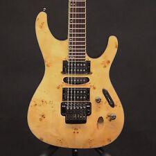 Ibanez S770PB Poplar Burl Natural Finish 6 String Electric Guitar Serial #7045