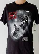 Black Star Wars Han's Solo with Darth Vader Rock Band Small T Shirt C3P0 Gift
