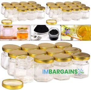 30PCS 45ml Glass Jars Spice Herb Jam Bottles Mason Top Airtight Mini Bottles Jar