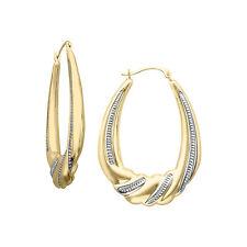 Scalloped Hoop Earrings in 10K Gold-Bonded Sterling Silver