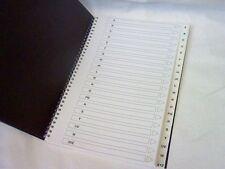 A4 A-Z dirección indexada/Cintura Negro Tapa Dura características 188 páginas-Precio Rebajado!!!