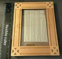 "4.5"" X 6"" Opening / Carved 7"" X 9""  Rectangular Desktop Wood Frame Thailand"