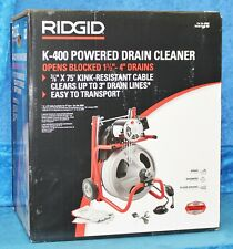 New Ridgid 115 Volt K 400 Drum Machine With C 31 38 In Integral Wound Cable