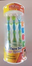 Nuby 4 Stage Oral Care Silicone Finger Massager Massaging Brushes. S2