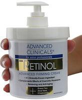 Advanced Clinicals Spa Size Retinol Advanced Firming Cream 16 Oz (454g)
