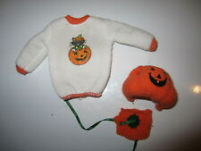 Barbie Kelly 3 Pc Lot Halloween Top, Pumpkin Costume with Hat (Misc-B5)