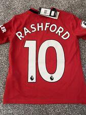 Rashford Manchester United Shirt Kids 9-10years BNWT Badge Adidas