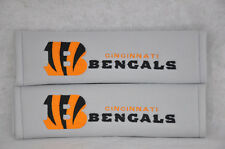 NEW Embroidery Grey Seat Belt Cover Shoulder Pad Pair NFL Cincinnati Bengals
