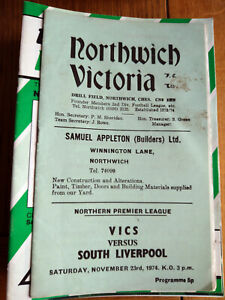 Northwich Victoria Home Football Programmes 1974-2009 You Select