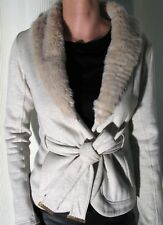 Anthropologie THEME Brand Faux Fur/ Jersey Coat Jacket $149 Sz S