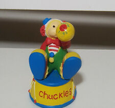 KIDS TOY BEANIE KIDS CHUCKLES CERAMIC STATUE! TEDDY BEAR CLOWN FIGURINE BKF014!