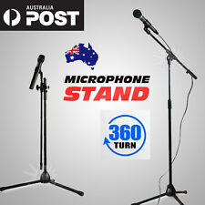 Telescopic Boom Microphone Stand Adjustable Mic Holder Tripod 1 to 2M AU POST