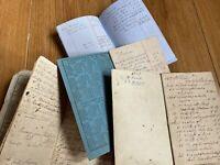 19th Century Pocket Ledger Books Farming Expenses Agriculture Interest (?)