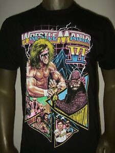New WWE WrestleMania VI The Ultimate Warrior Macho Man 90's Vintage Men's Shirt