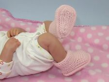PRINTED KNITTING INSTRUCTIONS - PREMATURE BABY 4PLY GARTER STITCH BUMPER BOOTIES