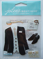 Jolee's Boutique ~TUXEDO~ Dimensional Stickers; WEDDING Groom Ceremony Reception