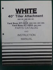 1980 WHITE 40 INCH TILLER ATTACHMENT 990 191 YARD BOSS GT 1655 1855 PARTS MANUAL