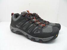 Keen Men's Oakridge Trail Hiking Shoes BLACK/GARGOYLE/Orange Size 11.5M