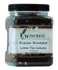 English Breakfast -Loose Black Tea Leaves - 8 Oz Container - Free Expedited Ship