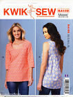 ©2016 KWIK SEW SEWING PATTERN 4159 MISSES SZ 8-22 PULLOVER, LOOSE-FITTING TOPS
