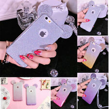 3D Cute Big Ear Glitter Mouse Soft TPU Case cover for Apple iPhone7 6s Plus 5s