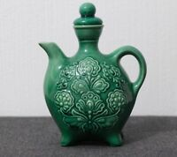 Vintage RARE Porcelain Green Jug National Ukrainian Antique