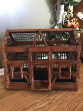 "Vintage Victorian Wooden Bird Cage  PLANTATION Style 17"" x 20"" x 11"""