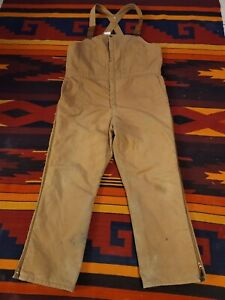 WALLS BLIZZARD PRUF Insulated  Overalls/Bibs USA 42-44 XLARGE REGULAR. BROWN