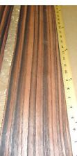 "Macassar Ebony wood veneer 5"" x 72"" raw no backing 1/42"" thickness ""A"" grade"