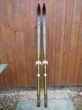 "New listing Vintage 73"" Snow Skis Has Black Yellow Finish Great Decoration"