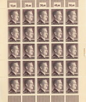 Stamp Germany Mi 800 Sc 525 Sheet 1941 WWII War Era Hitler MNH Ink Adhesion