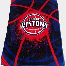 Detroit Pistons blanket bedding 60x80 NBA Pistons throw  free shipping