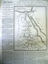 10 1884 newspapers MAHDIST WAR in the SUDAN - ISLAMIC EXTREMISM vs GREAT BRITAIN