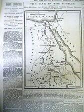 10 1884 newspapers MAHDIST WAR in the SUDAN - Islamic extremist vs Great Britain