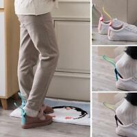 2pcs Lazy Shoe Helper Unisex Handled Shoe Horn Easy Shoe Lifting Off on W0S4