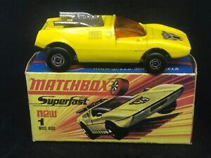 Matchbox Superfast MB1 B2 Mod Rod w Wildcat Labels & Type H Box