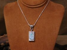 Opal Necklace Vintage Sterling Silver