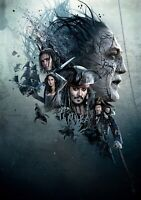 PIRATES OF THE CARIBBEAN; DEAD MEN TELL NO TALES Move PHOTO Print POSTER Art 004