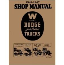 Factory MoPar Shop - Service Manual for 1941-1947 Dodge W-Series Trucks