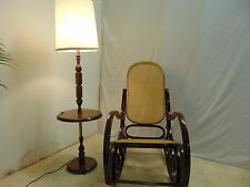 Vintage Rocking Chair French Country Thonet Style with cane seating and back and